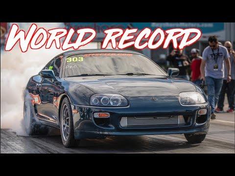 1350HP Baltic Supra Worlds Fastest Supra on Toyota Drivetrain - SEVENS on STREET TIRES!