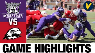 #3 Weber State vs Southern Utah Highlights | FCS 2021 Spring College Football Highlights