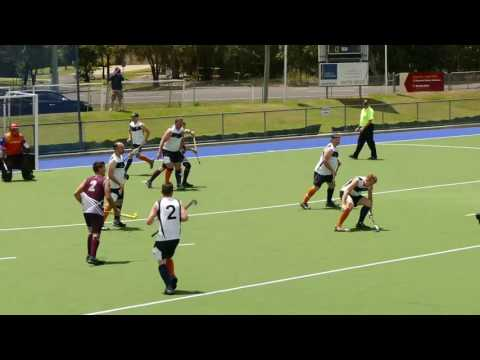 Qld Police 5 beat Victoria Police 1. Mens hockey finals.  Police and emergency services games 2016