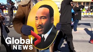 Parades held in New Orleans, Dallas on day honouring Martin Luther King Jr.