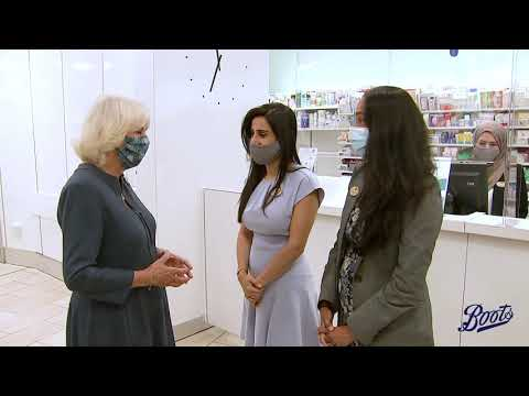 boots.com & Boots Promo Code video: HRH The Duchess of Cornwall visits Boots Piccadilly - 28 July 2020