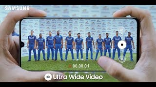Samsung Galaxy A70 with Triple Camera for Ultra-Wide Videos