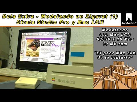 Bola Extra - Modelando un Zigurat (parte 1) con Mac LCII a 16 Mhz y Strata Studio Pro.