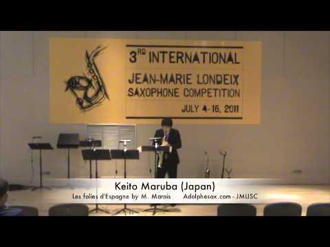 3rd JMLISC: Keito Maruba (Japan) Les folies d'Espagne by M. Marais
