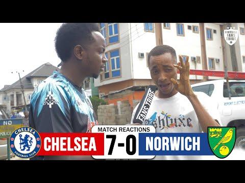 CHELSEA 7-0 NORWICH (Nigerian Fan Reactions) Final Whistle Highlights
