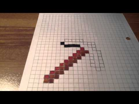 How To Draw A Minecraft Pickaxe - YouTube