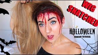 Wig SNATCHED Halloween Makeup Tutorial