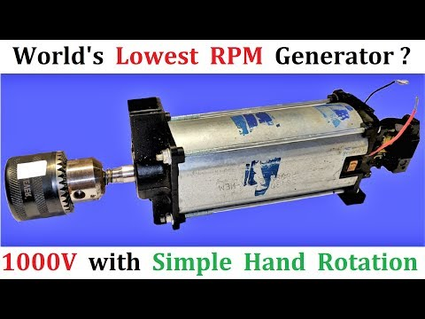 World's Lowest RPM Generator - 220V AC Dynamo Generator 500W Low RPM