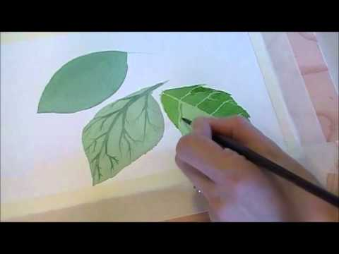 Three Techniques For Painting Leaves In Watercolor Youtube