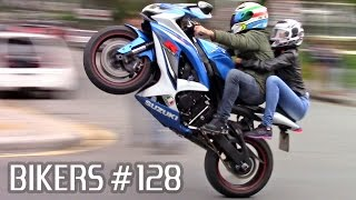 SUZUKI, BMW, HONDA & YAMAHA SUPERBIKES WHEELIES, BURNOUTS & more! - BIKERS #128