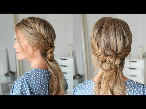 Double Fishtail French Braid Flower Ponytail | Missy Sue