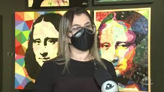 Exposição sobre Monalisa recebe visitantes com número limitado   Jornal da Cidade