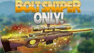 BOLT SNIPER ONLY (Fortnite Battle Royale)