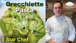 Orecchiette Pasta with Parmesan and Broccoli' Cooking Class with Alfonso Crescenzo