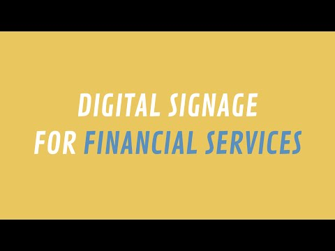 ScreenScape Digital Signage for Financial Services