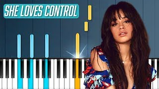 """Camila Cabello - """"She Loves Control"""" Piano Tutorial - Chords - How To Play - Cover"""