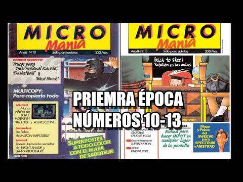 MICROMANIA PRIMERA EPOCA NUMEROS 10 AL 13