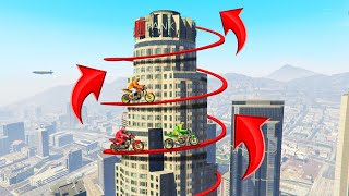 Make The 500 FEET SPIRAL TIGHTROPE Or LOSE! (GTA 5 Funny Moments)