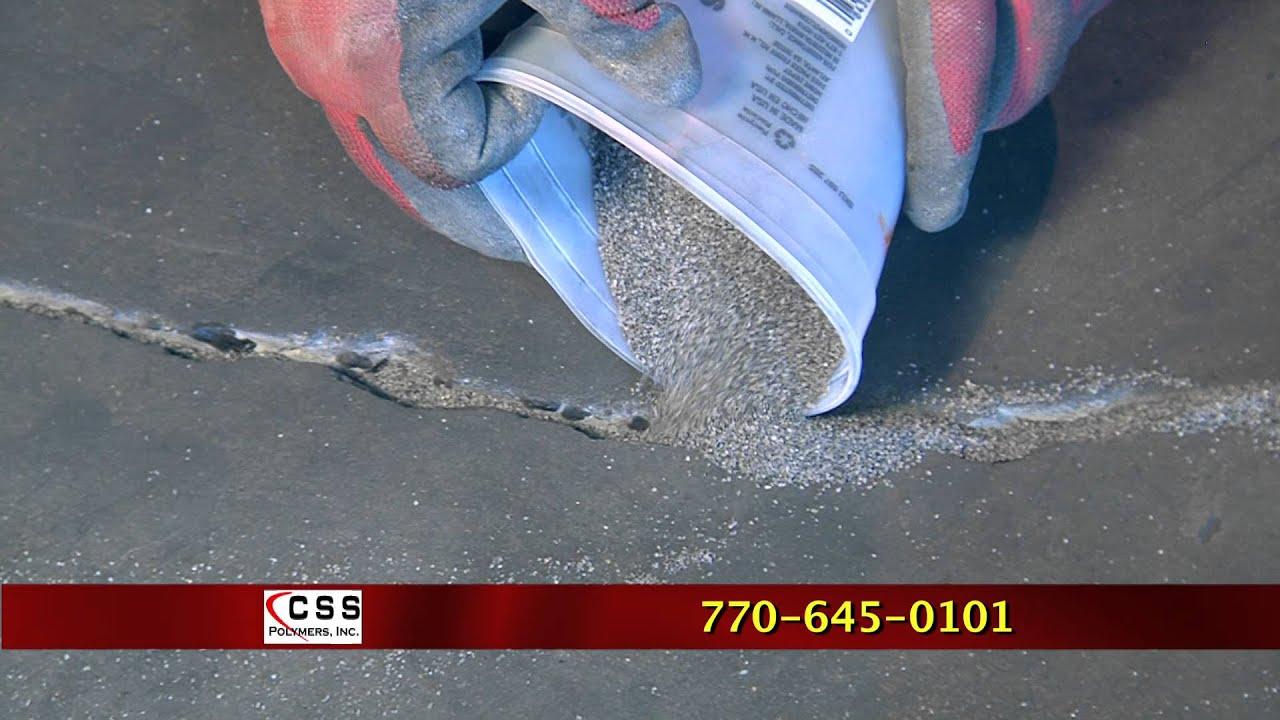 How To Repair A Crack In Concrete Floor With Quick Repair