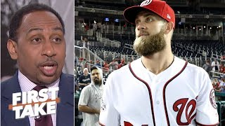 Bryce Harper should sign with the Dodgers – Stephen A. | First Take