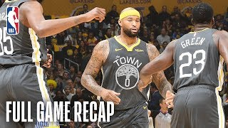 WARRIORS vs LAKERS | DeMarcus Cousins Leads The Way For GSW | April 4, 2019