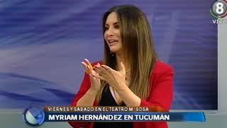 Myriam Hernández en Tucumán  Se presentará en el Mercedes Sosa este viernes y sábado