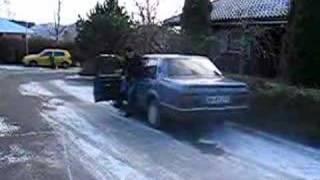 Pissed off man - punishing car that wont start