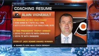 NHL Now:  Vigneault to Flyers:  Alain Vigneault has been named the Flyers` head coach  Apr 15,  2019
