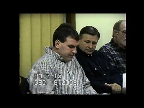 Chazy Town Board Meeting 12-8-03