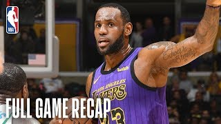 HORNETS vs LAKERS | Los Angeles Knocks Down 18 Three-Pointers | March 29, 2019