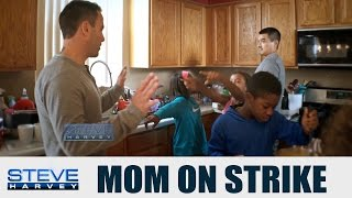 Mom Quits and leaves Dad with 6 Kids! || STEVE HARVEY