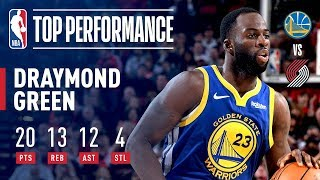 Draymond Green Records a Triple-Double in 3 Quarters!   May 18, 2019