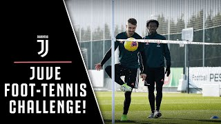 JUVENTUS FOOT-TENNIS CHALLENGE! ⚽️🎾?  | FEAT. TRAINING DRILLS🏃🏻???