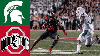 #25 Michigan State vs #4 Ohio State Highlights | NCAAF Week 6 | College Football Highlights