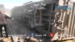 فيديو: مشاهد مُفزعة لحادث إصطدام القطار بين الفحص و بوعرادة     -