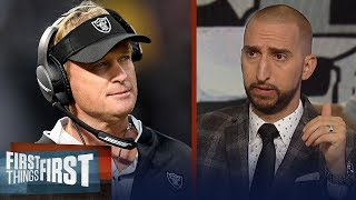 Nick and Cris react to Jon Gruden's comments about Khalil Mack  | NFL | FIRST THINGS FIRST