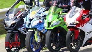 Drag Races Honda Cbr 1000rr Vs Kawasaki Zx10r Vs Bmw