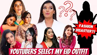 Youtubers select MY EID OUTFIT! Fashion Hit or Miss? | Sarah Sarosh