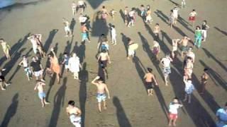 Globo sobrevolando la playa