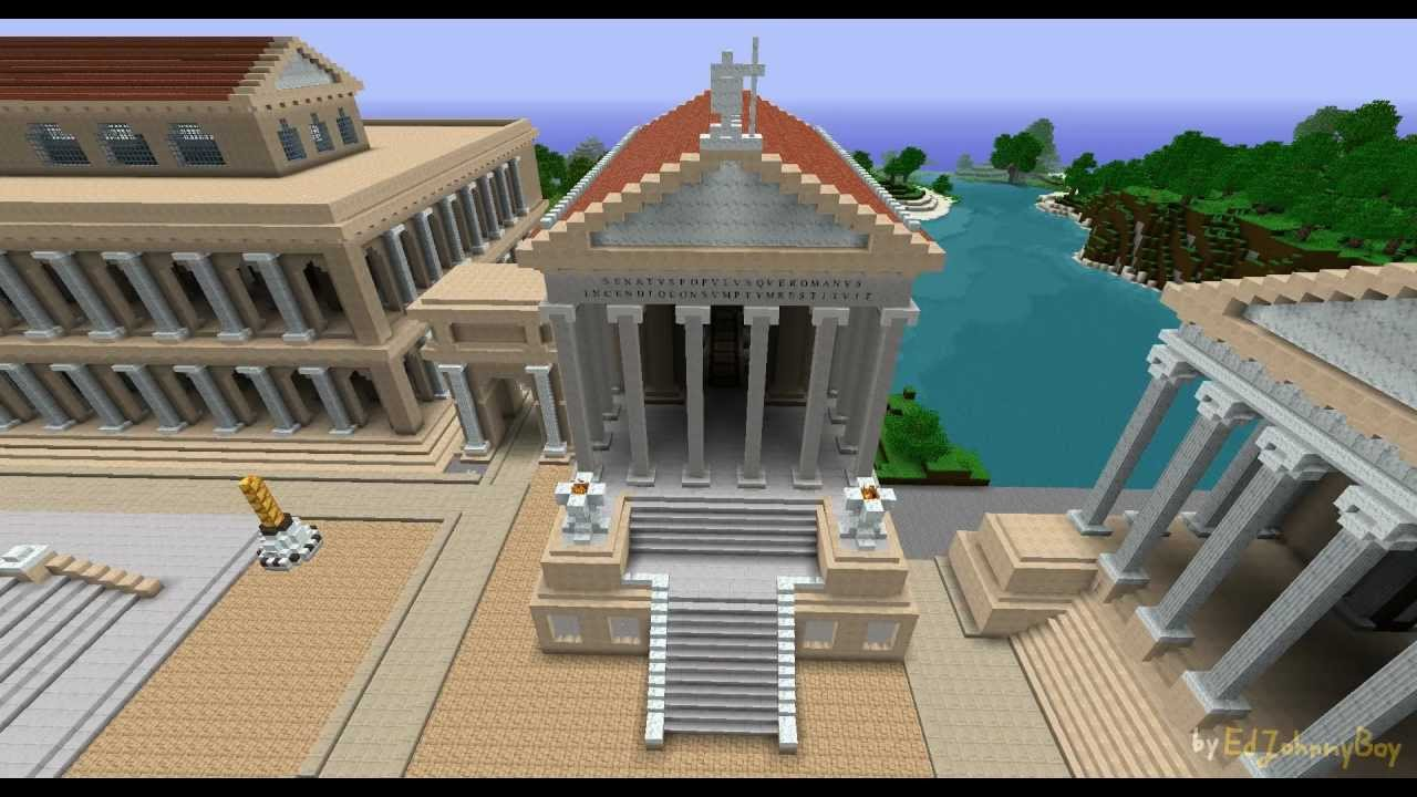 Temple Of Saturn In Minecraft 02112011 Youtube