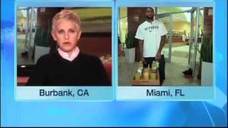 LeBron James Surprises Ellen's Writer