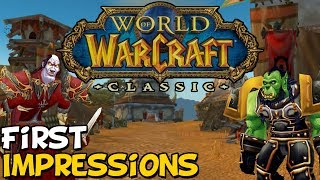 World Of Warcraft Classic Demo First Impressions - YouTube