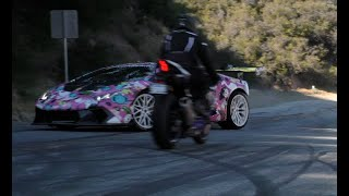 Alex Choi Near Miss Lamborghini Huracan vs Yamaha R1 Motorcycle