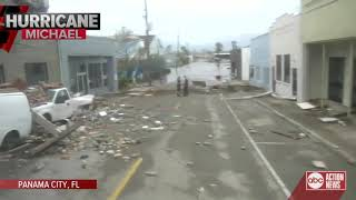 Damage in Panama City after Hurricane Michael