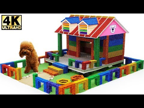 DIY - How To Make Amazing Dog House with Magnetic Balls (ASMR) | Magnetic Man 4K