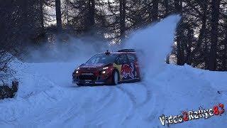 Test Monte Carlo 2019 | Sébastien Ogier | Citroën C3 WRC| Full Snow [Day4]