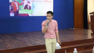 Phạm Hồng Phước hát live không nhạc tại Cơ sở 2 Trường TC Bách Khoa Sài Gòn