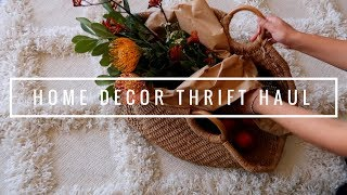 HOME DECOR THRIFT HAUL - 70s dinnerware + boho mumus | HellaJam