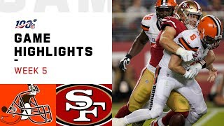 Browns vs. 49ers Week 5 Highlights | NFL 2019