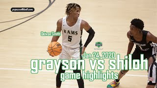 GRAYSON pulls out the win against SHILOH in front of a CRAZY sold-out crowd!